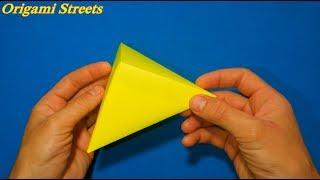 Как сделать 3D треугольная пирамида из бумаги. Оригами 3D пирамида