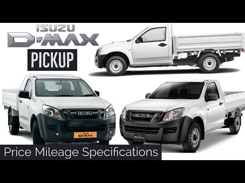 Isuzu D-Max Pickup | Price Mileage Specifications | Standard Ride | High  Ride | Detailed Video