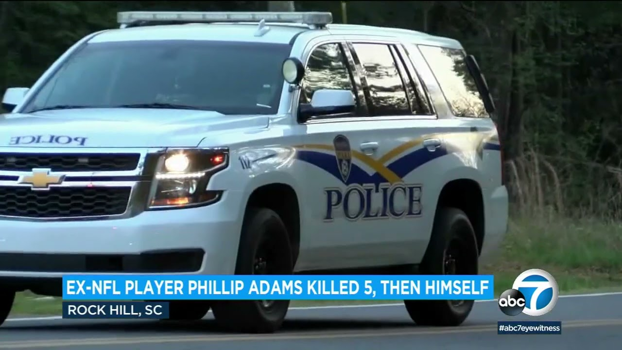 Authorities: NFL player Phillip Adams killed 5, then himself