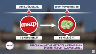 Furcsa válasz MSZP-től a képviselőik jövedelmével kapcsolatban