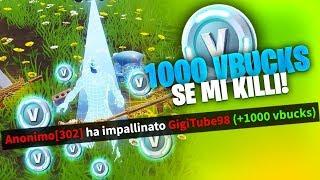 WHO MI KILLA WINS 1,000 VBUCKS! Fortnite ITA Private Servers!