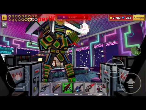 Pixel Gun 3D Battle Mech Vs Robot Samurai! Best Out Of 10!