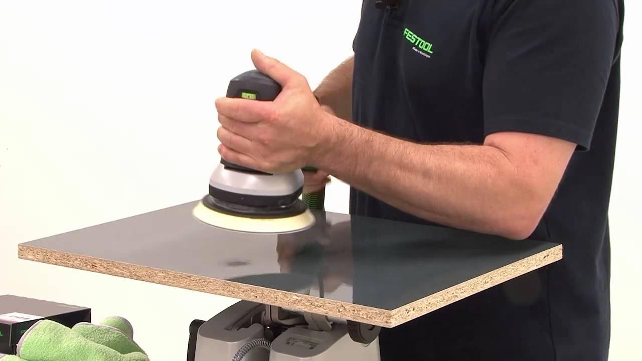 Festool TV14High gloss polishing of wooden surfaces