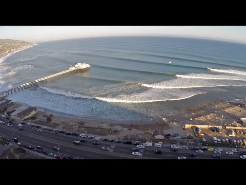 """Big Wednesday"" Epic Drone Video of Malibu's with Laird Hamilton, Alan Sarlo."