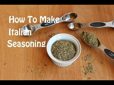 How To Make Homemade Italian Seasoning With Basil, Thyme, Oregano & More | Rockin Robin Cooks