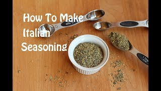 How To Make Homemade Italian Seasoning With Basil, Thyme, Oregano &amp More  Rockin Robin Cooks
