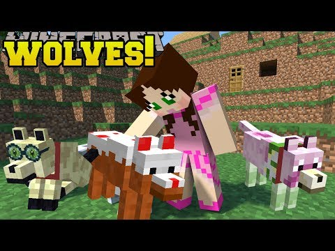 Minecraft: TOO MANY WOLVES!!! (CAKE WOLF, DIAMOND WOLF,  ZOMBIE WOLF, & MORE!) Mod Showcase