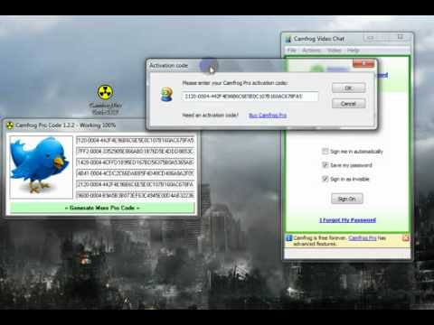 Camfrog Pro Code 1 2 2 Working   2011   YouTube