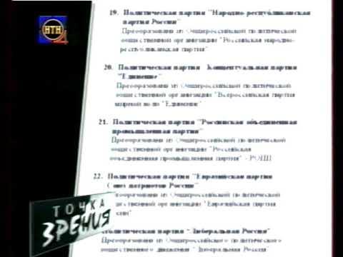 Выборы в Госдуму 2003 год - политические партии (НТН-4)