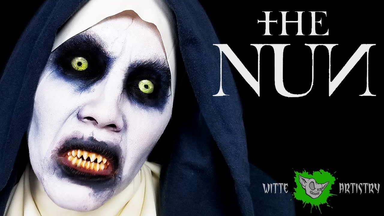 Halloween Sminkningar Clown.The Nun Movie Makeup Tutorial Easy Halloween Makeup 2018