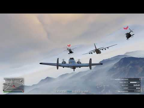GTA 5 Online - Smugglers Run - Supply Run 18 (Multi Person Titan Escort)