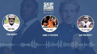 Tom Brady, NBA Finals Game 5 preview, Dak Prescott   UNDISPUTED audio podcast (7.16.21)