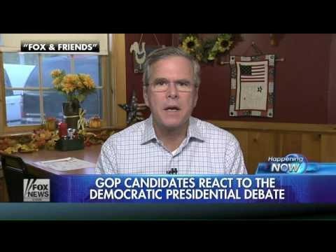 Republican candidates react to Democratic debate