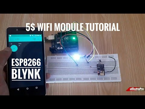 Esp8266 WiFi Module Setup Using Arduino Uno || ESP8266 Blynk || IoT Project || UElectroPro
