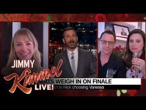 Jimmy Kimmel Asks Celebrity Super About Bachelor Finale