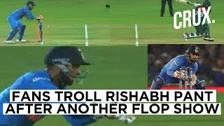 Rishabh Pant Continues His Poor Form, Fans Ask Him To Learn From Dhoni