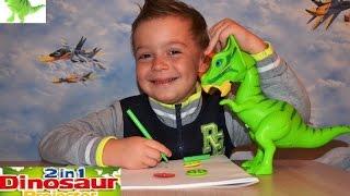 Обзор и распаковка Динозавр проектор игрушка,  Dinosaur Projector
