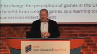 Game Based Learning 2009 - Ian Livingstone, Co-founder, Eidos