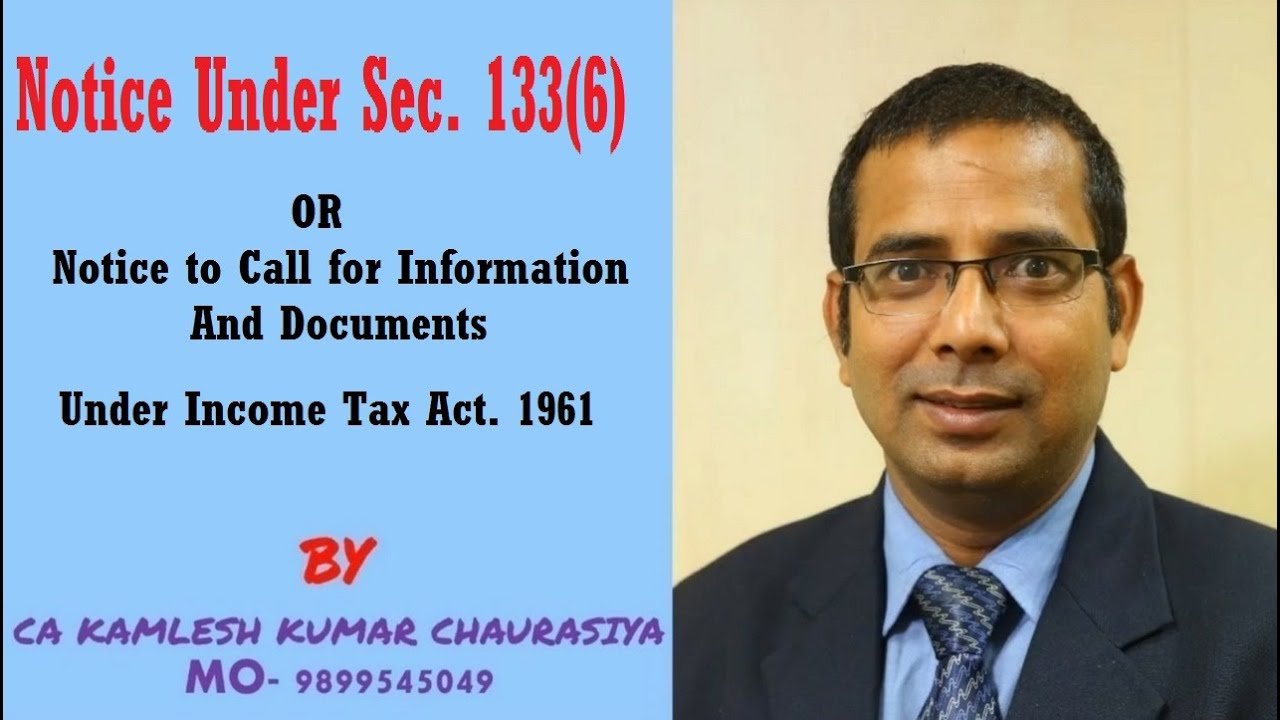 notice under section 133 6 youtube youtube