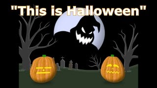 Repeat youtube video This Is Halloween - Singing Pumpkins Halloween light show 2012