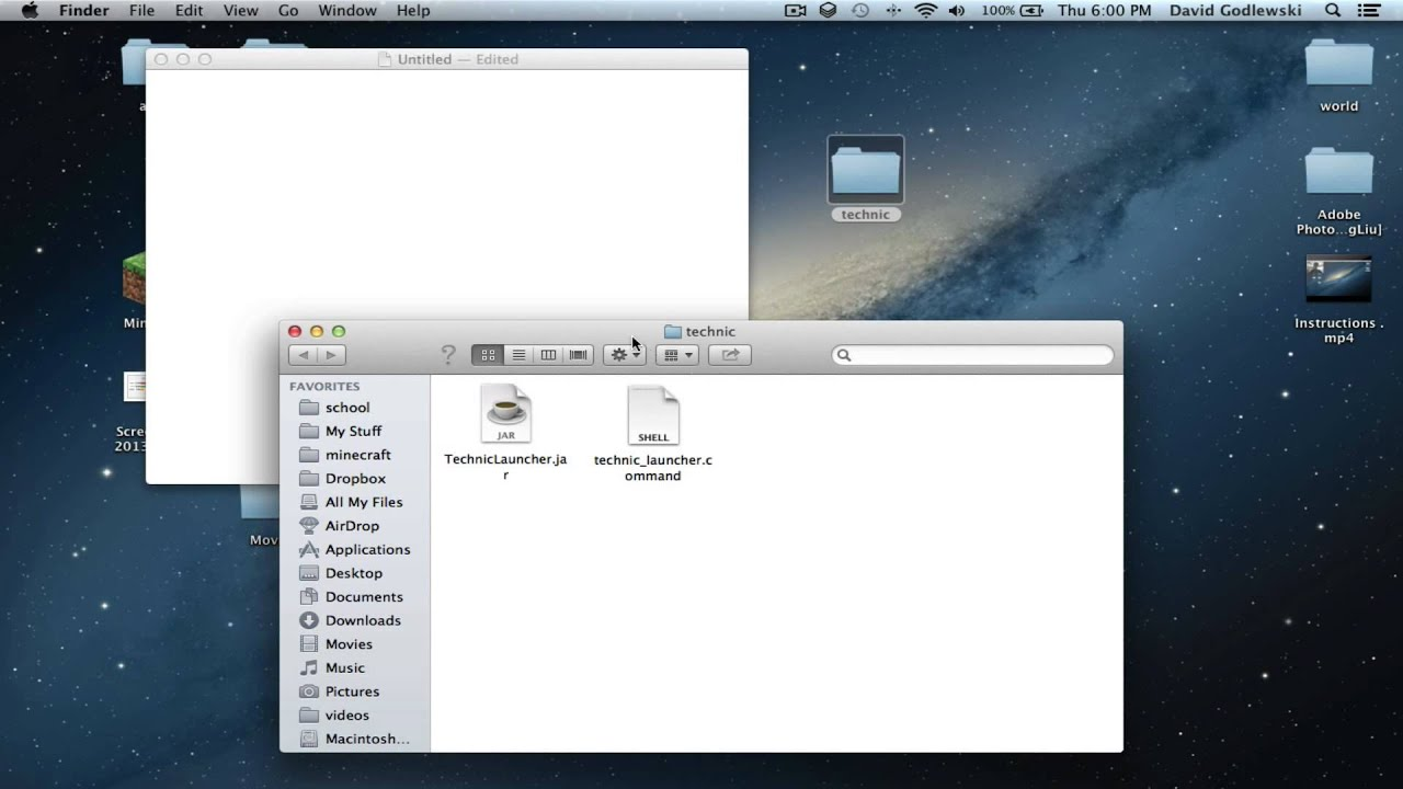 technic launcher not working on mac