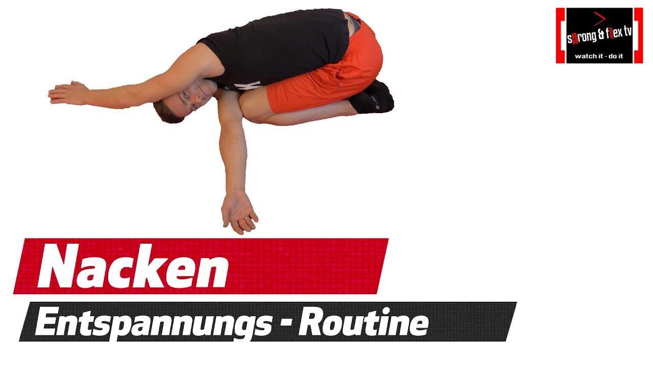 Nackenverspannungen lösen - Schulter und Rücken dehnen - YouTube