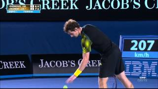 Andy Murray gets distracted by feather in AO 2013 Final