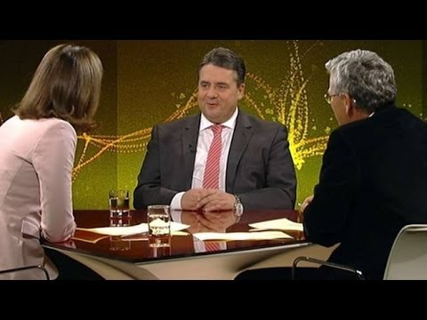 SPD Sigmar Gabriel im Streit mit Marietta Slomka Heute Journal - 28.11.2013 - KLARTEXT