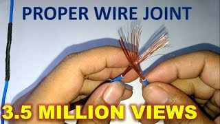 Perfect Wire Joint | ordinary joint | Types of joint