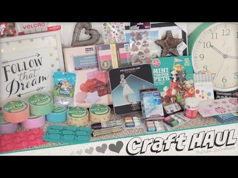 I WENT SHOPPING // Arts & Craft supplies + Room Decor HAUL