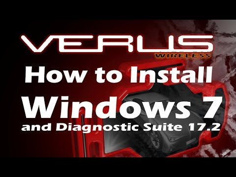 Snap On VERUS -  How to install Windows 7 & Diagnostic Suite 17.2 on your older VERUS!