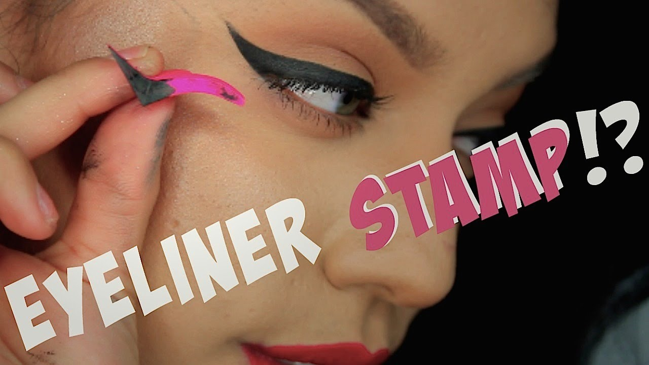 WINGED EYELINER STAMP TESTED!!| for beginners