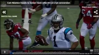 CAM NEWTON INJURY - CONCUSSION (vs. Falcons) Week 4