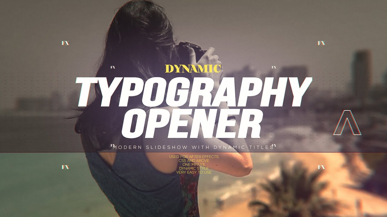 Dynamic Typography Opener [After Effects Project] - YouTube