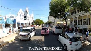Driving Duval Street Key West Florida