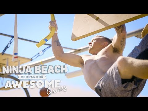 Ninja Beach | Ninja Warrior Course | People Are Awesome Games