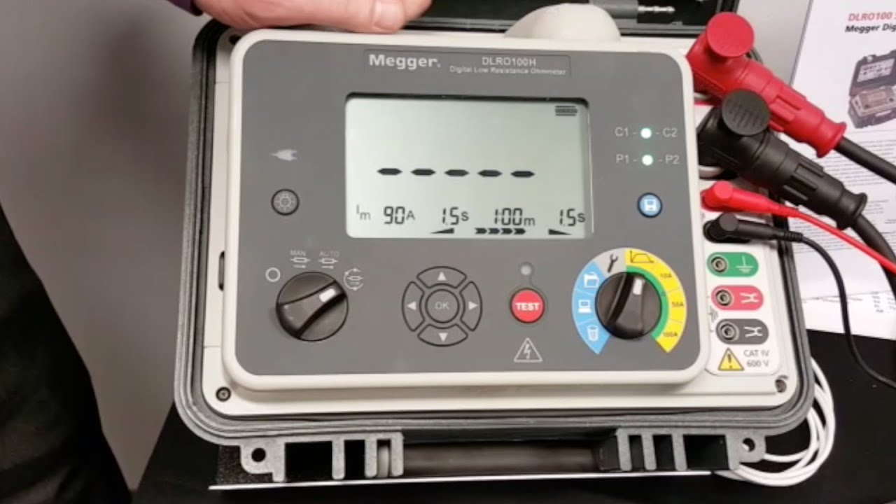Megger Dlro100 How To Do A Test With The Youtube Insulation Tester Constant 5kv