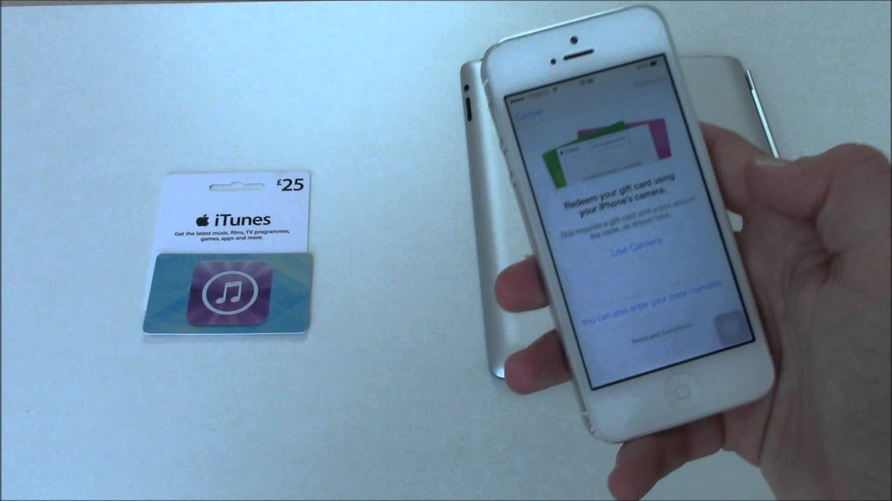 How to Put an App Store/iTunes Gift Card Using Camera On iPhone ...