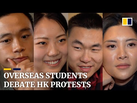 Overseas students in the US debate on Hong Kong protests