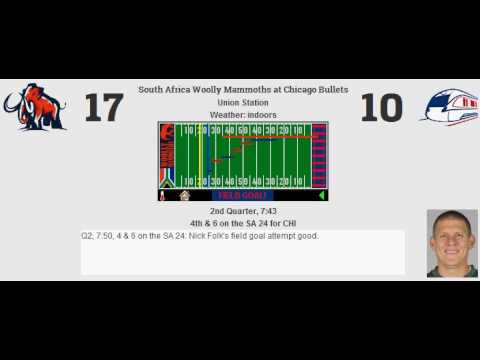 Week 2: South Africa Woolly Mammoths (0-1) @ Chicago Bullets (0-1)