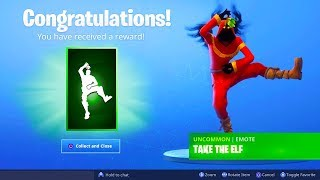 The FREE NEW EMOTE in Fortnite.. (Take The Elf Christmas Emote)