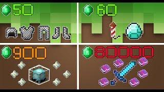 5 Vật Phẩm ĐẮT ĐỎ Nhất Trong Minecraft Mà Có Tiền Chưa Chắc Đã Có - Kiếm Kim Cương Enchant Max