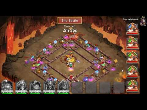 MESA 4 TWO TEAM WITH A FREE 2 PLAY PLAYER! - Castle Clash