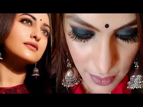 Sonakshi Sinha Black Smoke Eyes With Nude Lip Makeup Look ||Priya Deep from YouTube · Duration:  8 minutes 4 seconds