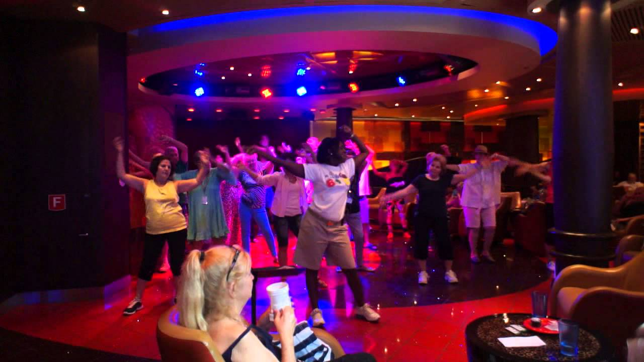 70's Dance Class at Boleros Oasis of the Seas Cruise Ship ...