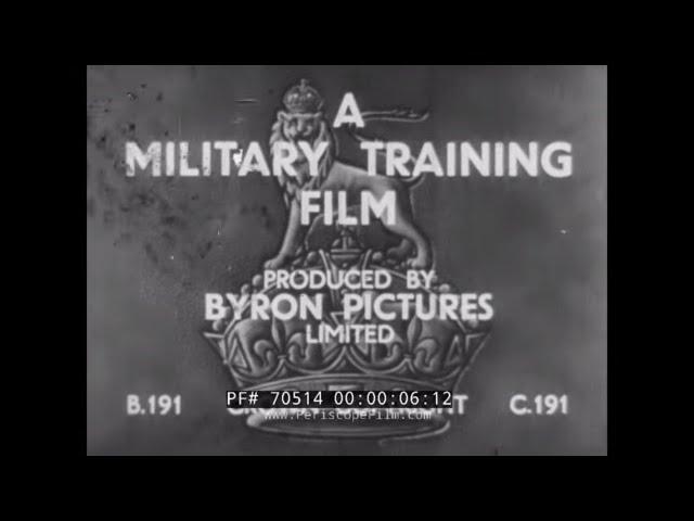 BRITISH ARMY 1930s TOMMY GUN, ANTI-TANK RIFLE, BREN & RIFLE TRAINING FILM  70514