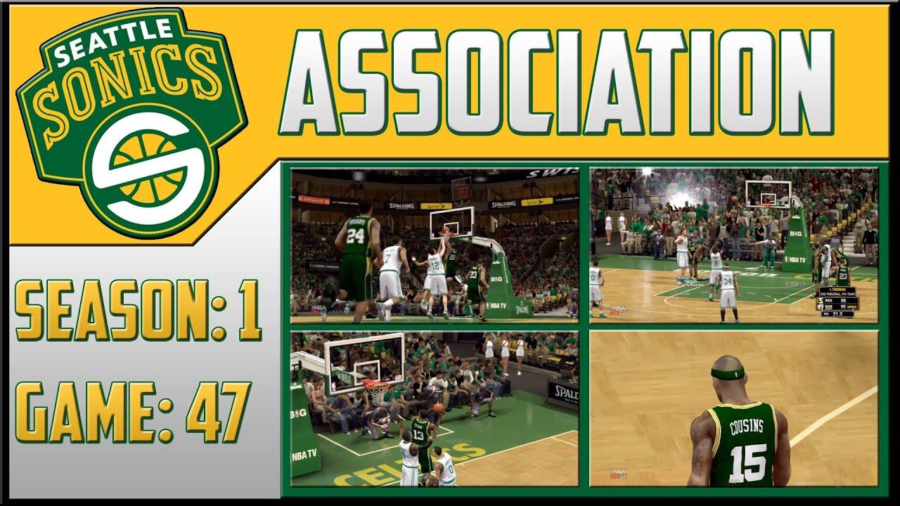 NBA 2K13 Seattle SuperSonics Association - (S1G47) - Beantown Ballin (HD)