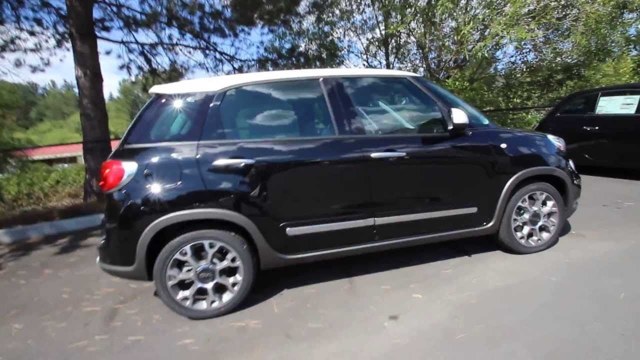 ez006548 2014 fiat 500l trekking rairdon 39 s fiat of kirkland black youtube. Black Bedroom Furniture Sets. Home Design Ideas