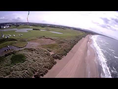 Irvine Beach from the Air, North Ayrshire