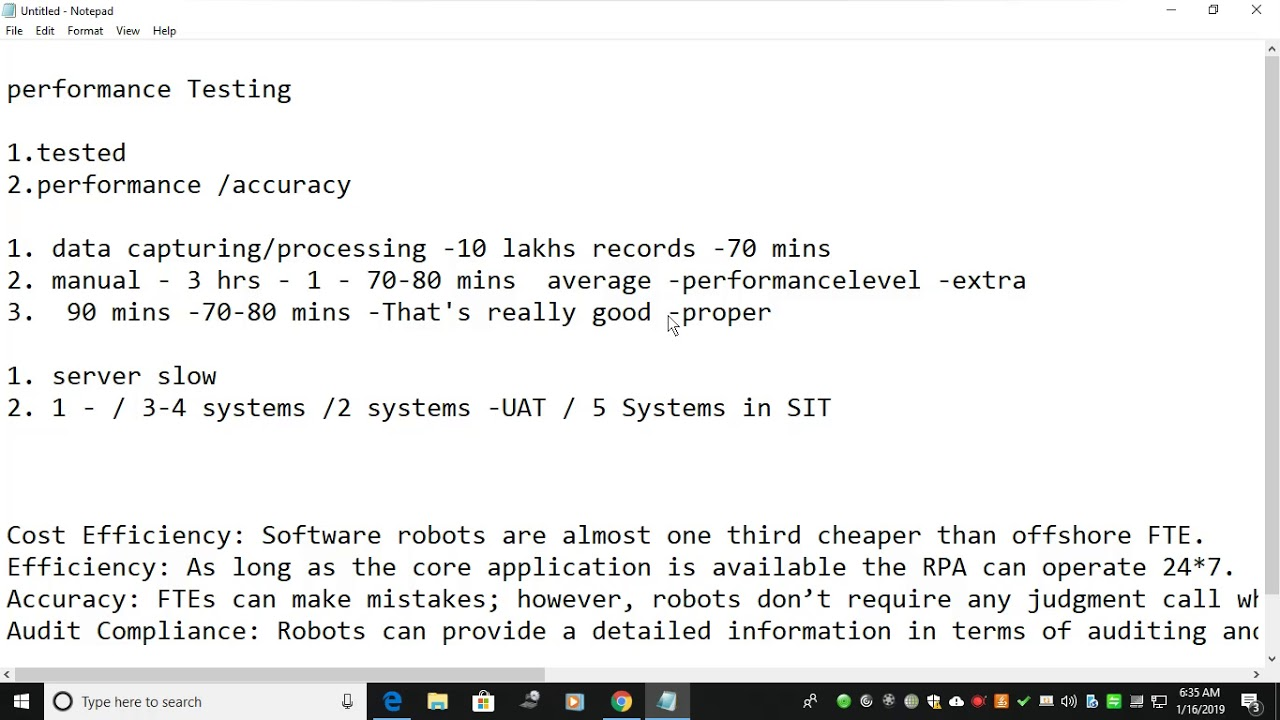 RPA-Bot Performance Testing Framework